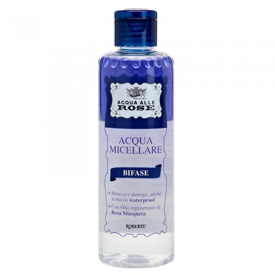 Acqua alle Rose Acqua Micellare Bifase con Olio di Rosa Mosqueta e Vitamina PP - Flacone da 200ml