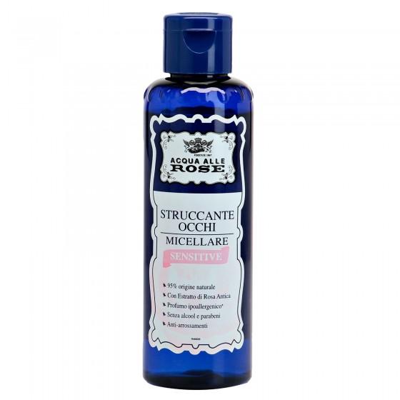 Acqua alle Rose Struccante Occhi Micellare Sensitive con Estratto di Rosa Antica e Pantenolo - Flacone da 150ml