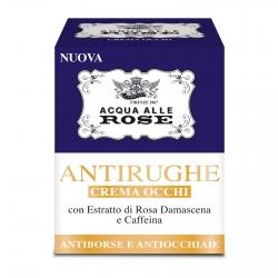 Acqua alle Rose Crema Occhi Antirughe Antiborse e Antiocchiaie con Estratto di Rosa Damascena e Caffeina - Barattolo da 50ml