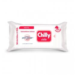Chilly Ciclo Salviettine Intime Biodegradabili pH 3.5 con Formula Antiodore - Confezione da 12 Salviette