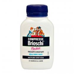 Brioschi Pocket Compresse Masticabili Digestivo Frizzante e Dissetante al Gusto Limone - Barattolo da 25 Compresse