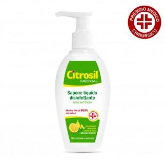 Citrosil Sapone Liquido Disinfettante Azione Battericida al Limone e Timo Presidio Medico Chirurgico - Flacone 250 ml