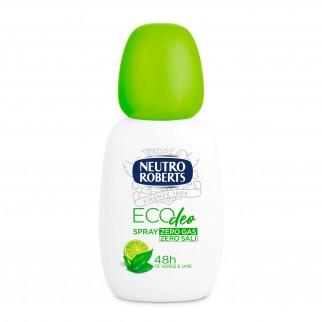 Neutro Roberts Eco Deo Deodorante Tè Verde e Lime Senza Sali d'Alluminio e Gas - Spray da 75ml