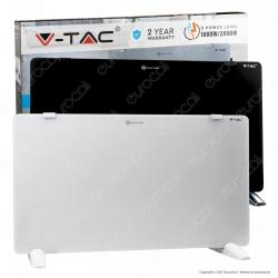 V-Tac VT-2000 Termoconvettore Pannello Riscaldante 1000W / 2000W in Vetro Temperato - SKU 8662 / 8661