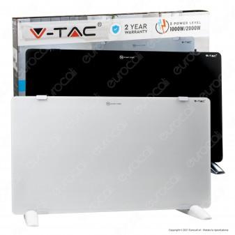 V-Tac VT-2000 Termoconvettore in Vetro Temperato IP24 - SKU 8662 / 8661
