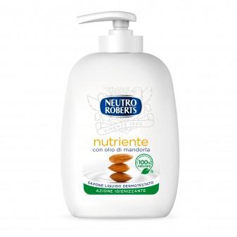 Neutro Roberts Sapone Liquido Nutriente con Olio di Mandorle - Flacone da 200ml