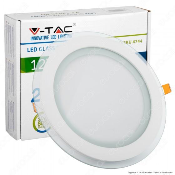 V-Tac VT-1202G RD Pannello LED Rotondo 12W SMD2835 da Incasso - SKU 4743
