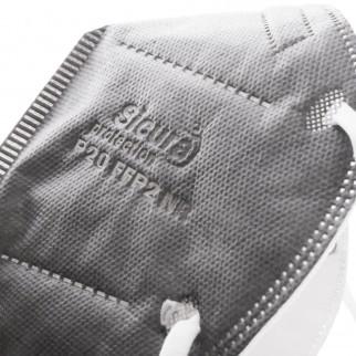 Sicura Protection 50 Mascherine Protettive Colore Grigio Monouso con Fattore di Protezione Certificato FFP2 NR in TNT