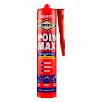 Bostik Poly Max Original Express Sigillante e Adesivo Super Rapido Terracotta Cartuccia con Applicatore - Tubo da 425g