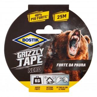 Bostik Grizzly Tape Nastro Nero Telato in PE Impermeabile - 25 Metri