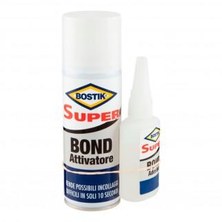 Bostik Super Bond Adesivo Istantaneo Trasprente con Attivatore - Tubetto da 50g