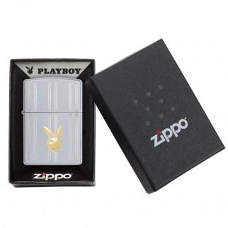 Accendino Zippo Mod. 29777 Playboy Auto Two Tone - Ricaricabile Antivento