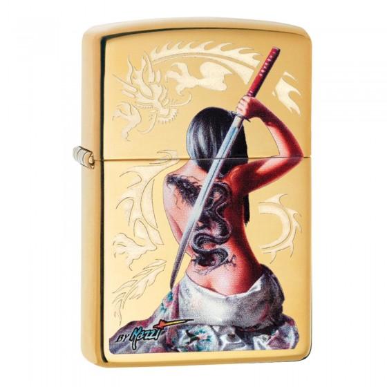 Accendino Zippo Mod. 29668 Mazzi® - Oriental Lady - Ricaricabile Antivento