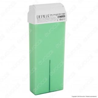 Depilia 1.14 Aloe Vera Titanio Cera Depilatoria Liposolubile per Ceretta - 1 Roll-On da 100ml