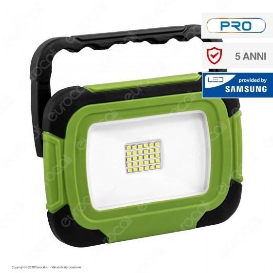 V-Tac PRO VT-20R Faro LED SMD 20W Multifunzione Ricaricabile a Batteria con Chip Samsung - SKU 20039 / 504
