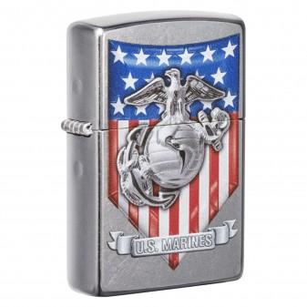 Accendino Zippo Mod. 49317 U.S. Marine Corps - Ricaricabile Antivento