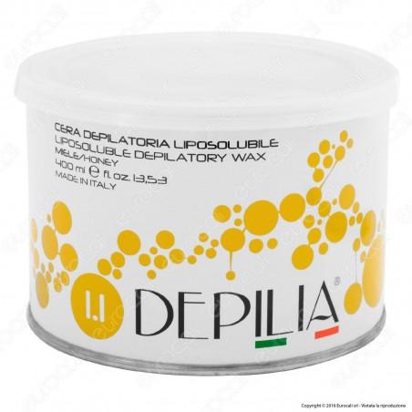 Depilia 1.1 Miele Cera Depilatoria Liposolubile per Ceretta - 1 Barattolo da 400ml