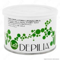 Depilia 1.2 Clorofilla Cera Depilatoria Liposolubile per Ceretta - 1 Barattolo da 400ml