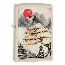 Accendino Zippo Mod. 29846 Pagoda Bonsai Buddah Design - Ricaricabile Antivento