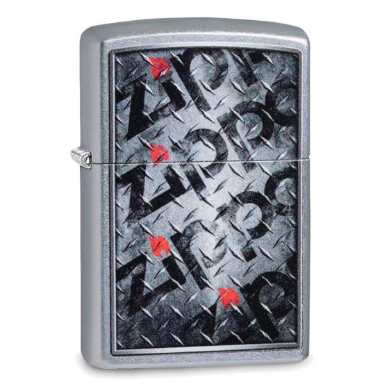 Accendino Zippo Mod. 29838 Diamond Plate Zippo Design - Ricaricabile Antivento