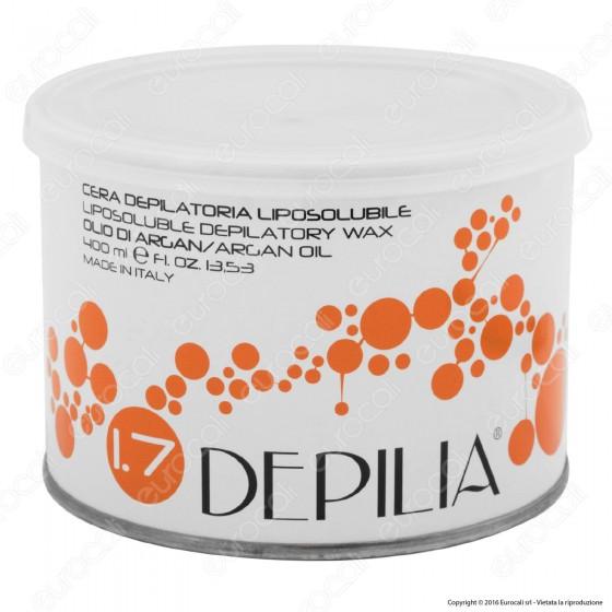 Depilia 1.7 Olio di Argan Cera Depilatoria Liposolubile per Ceretta - 1 Barattolo da 400ml