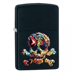 Accendino Zippo Mod. 49187 Skull Design - Ricaricabile Antivento
