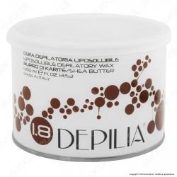 Depilia 1.8 Burro di Karitè Cera Depilatoria Liposolubile per Ceretta - 1 Barattolo da 400ml