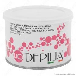Depilia 1.10 Biossido di Titanio Cera Depilatoria Liposolubile per Ceretta - 1 Barattolo da 400ml