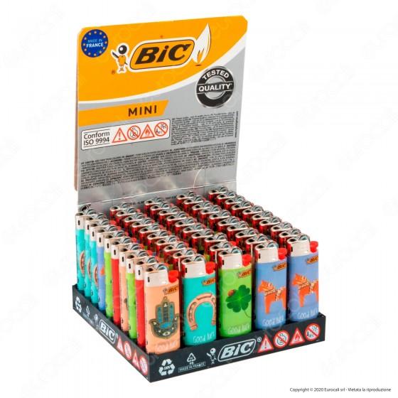 Bic Mini J25 Piccolo Fantasia Good Luck - Box da 50 Accendini