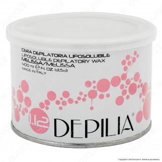 Depilia 1.12 Melissa Cera Depilatoria Liposolubile per Ceretta - 1 Barattolo da 400ml