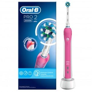 Oral-B Pro 2 2000N Spazzolino Elettrico Ricaricabile Rosa con Testina