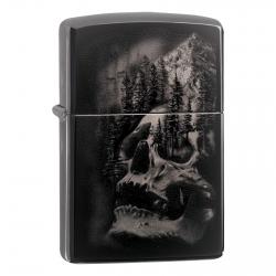 Accendino Zippo Mod. 49141 PVD Black Ice Skull - Ricaricabile Antivento