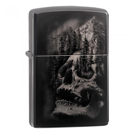 Accendino Zippo Mod. 49141 Skull Mountain Design - Ricaricabile Antivento