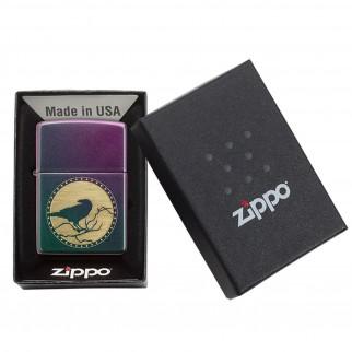 Accendino Zippo Mod. 49186 Iridescent Full Moon - Ricaricabile Antivento
