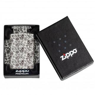 Accendino Zippo Mod. 49458 Skeleton Design Fosforescente - Ricaricabile Antivento