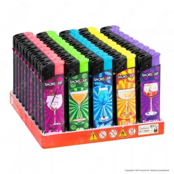 SmokeTrip Accendini Elettronici Ricaricabili Fantasia Lady Cocktails - Box da 50 Accendini