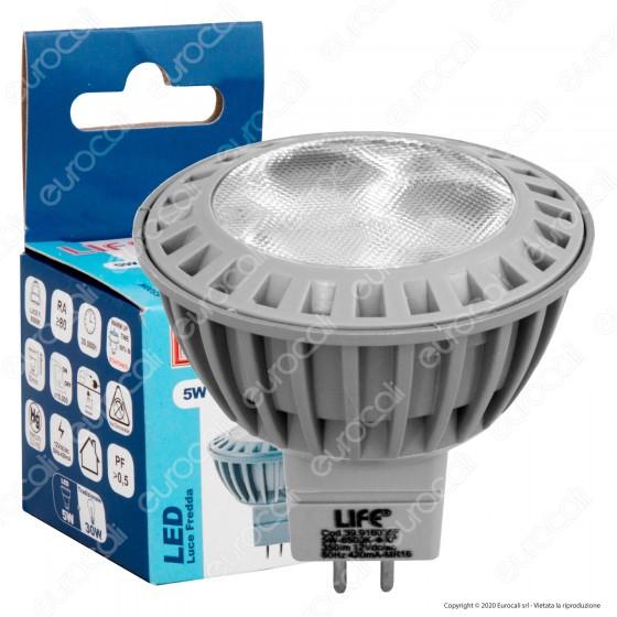 Life Lampadina LED GU5.3 (MR16) 5W Faretto Spotlight - mod. 39.916035F