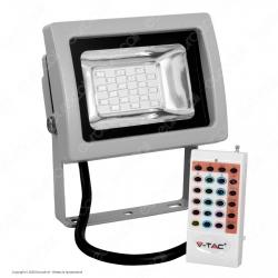 V-Tac VT-4711 RGB Multicolore Faretto LED 10W da Esterno con Telecomando Radiofrequenza - SKU 5894