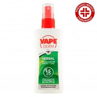 Vape Derm Herbal Lozione Antipuntura Citronella Eucalipto - Spray da 100 ml