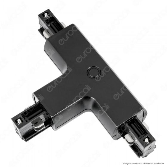 V-Tac Connettore a T 4 Poli Colore Nero - SKU 3524
