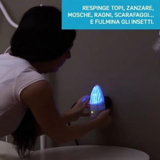 Intergross Invictus Repellente Elettronico e Fulmina Insetti per Roditori e Insetti con Tripla Tecnologia