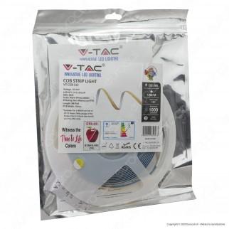 V-Tac VT-512 Striscia LED COB Monocolore CRI≥ 90 12W/M 24V - Bobina da 5 metri - SKU 2649 / 2650 / 2651