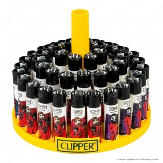 Clipper Large Fantasia Papel 4 - Box da 48 Accendini