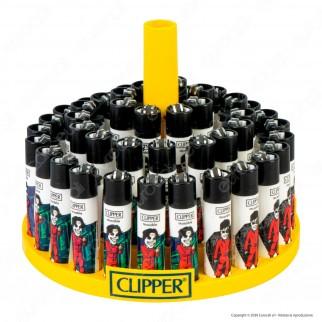 Clipper Large Fantasia Papel 3 - Box da 48 Accendini