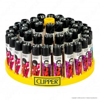 Clipper Large Fantasia Artistas - Box da 48 Accendini