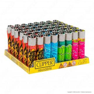 Clipper Large Fantasia Graffiti - Box da 48 Accendini