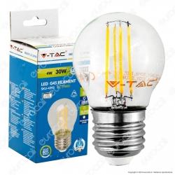 V-Tac VT-1980D Lampadina LED E27 4W MiniGlobo G45 Filamento Dimmerabile - SKU 4395