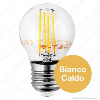 V-Tac VT-1980D Lampadina LED E27 4W MiniGlobo G45 Filamento Dimmerabile