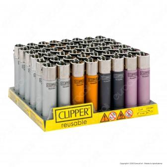 Clipper Large Fantasia Metallic - Box da 48 Accendini