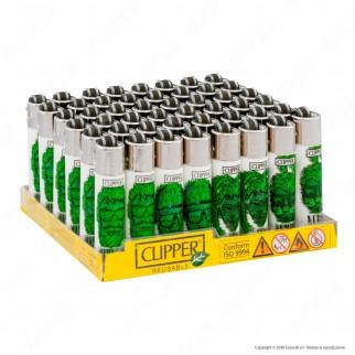 Clipper Micro Fantasia Weed Silhouettes - Box da 48 Accendini